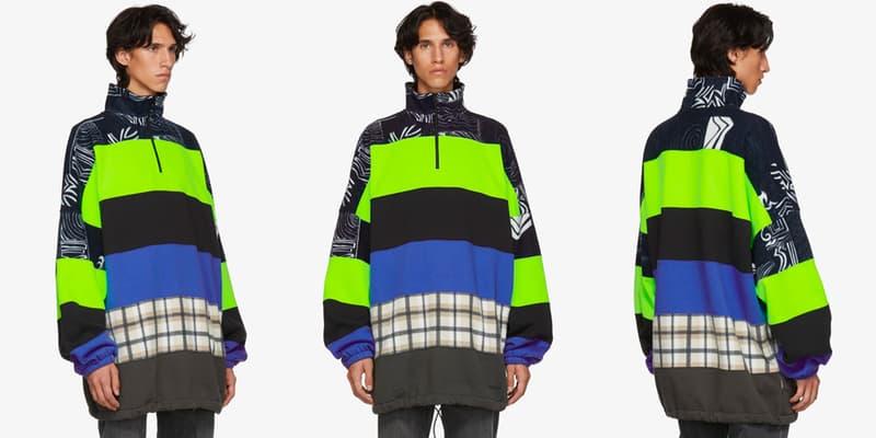 Balenciaga Pre-Fall 2018 Collection Chimney Sweaters multicolor check leaopard tartan demna gvasalia