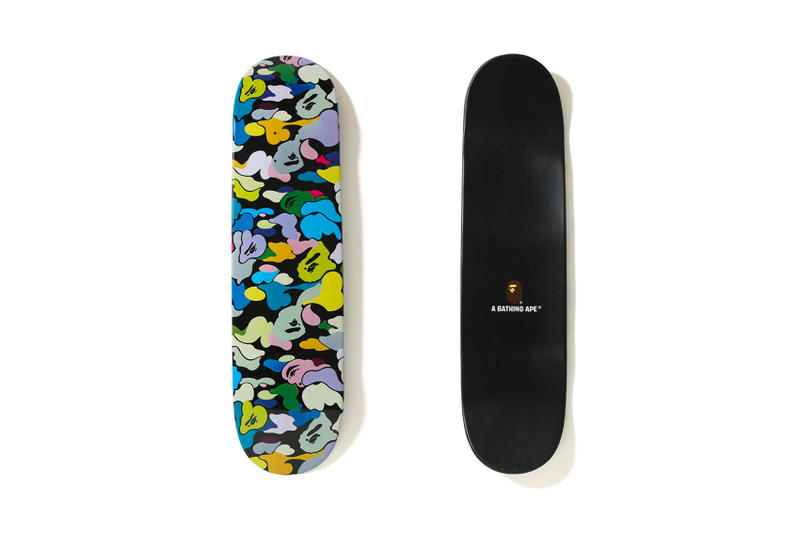 BAPE Multi Color Skate Deck black