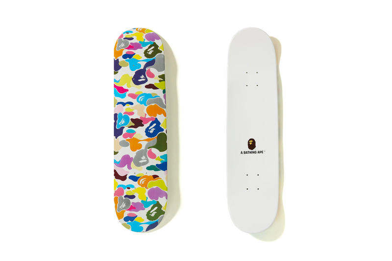 BAPE Multi Color Skate Deck white