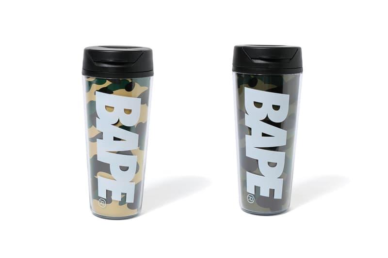bape a bathing ape plastic travel mug