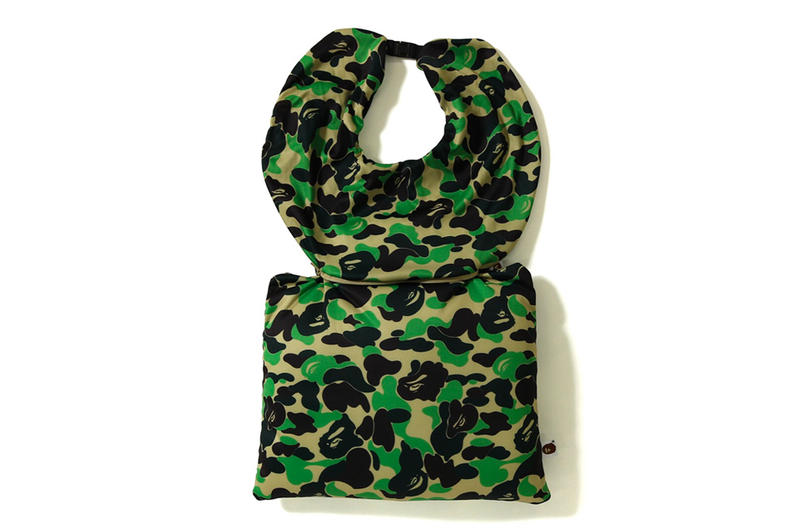 bape a bathing ape 2 way neck pillow green
