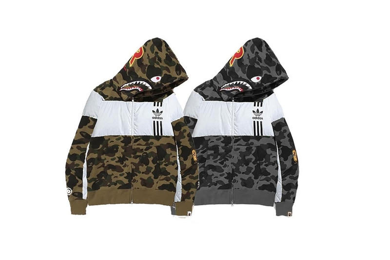 BAPE x adidas 2019 Shark Hoodies, Helmet, Cleats | HYPEBEAST