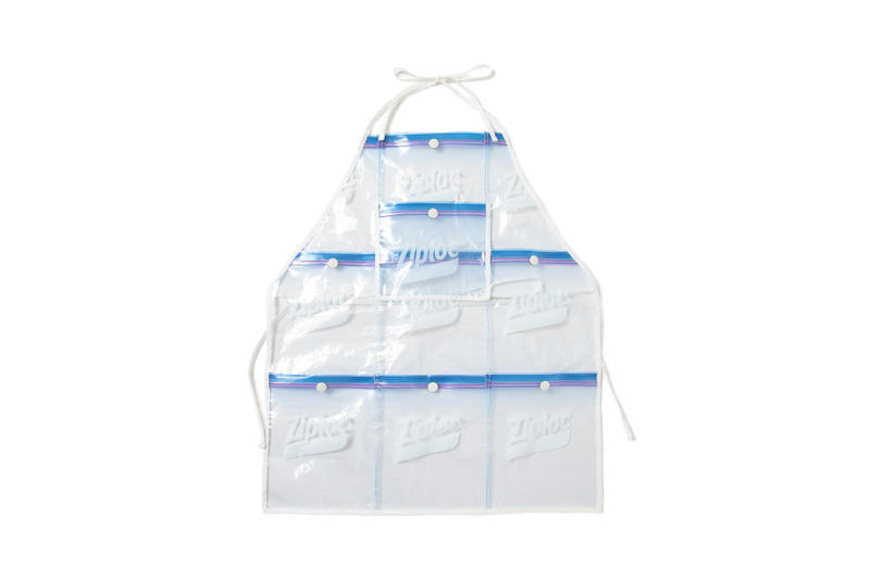 beams couture ray ziploc bag baggie collaboration collection apron visor umbrella pouch backpack waist fanny pack bag shoulder hat tote
