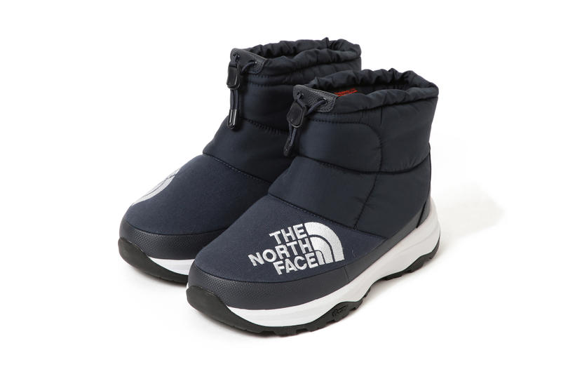 BEAMS the north face nuptse bootie moc waterproof slip on boot fall winter 2018 collaboration footwear japan black orange blue white colorways october 2018 drop release date info official look buy sell sale