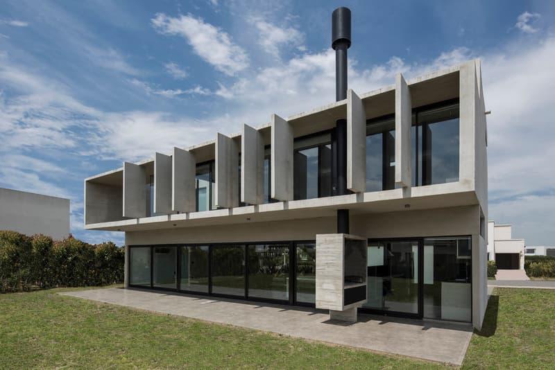 BLQ House Luciano Kruk Quilmes Argentina Architecture Modern Homes Houses Sleek Interior Exterior Garden