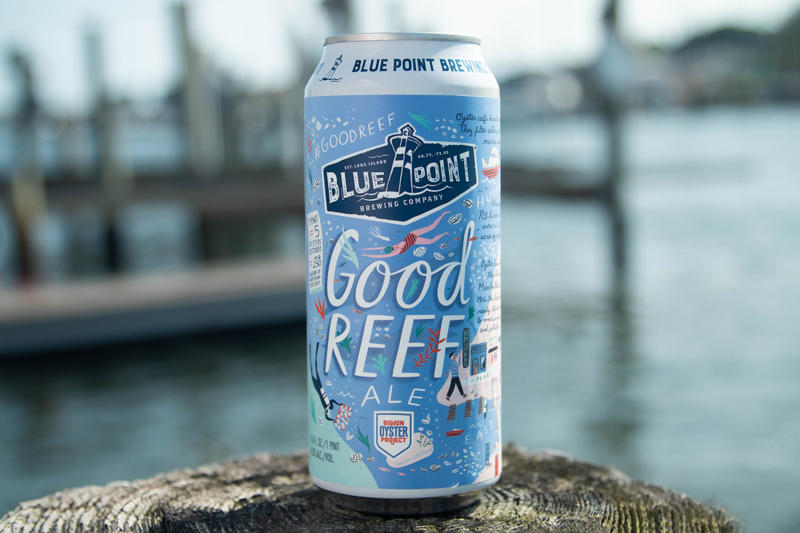 Blue Point Brewing Company Presents Good Reef Ale color water oysters drinking new york long island hops wheat oats Willamette Saaz Amarillo Cascade