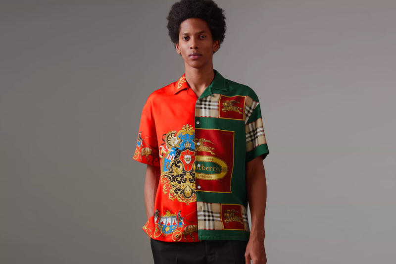 Burberry Archive Scarf Print Silk Shirt release info green red