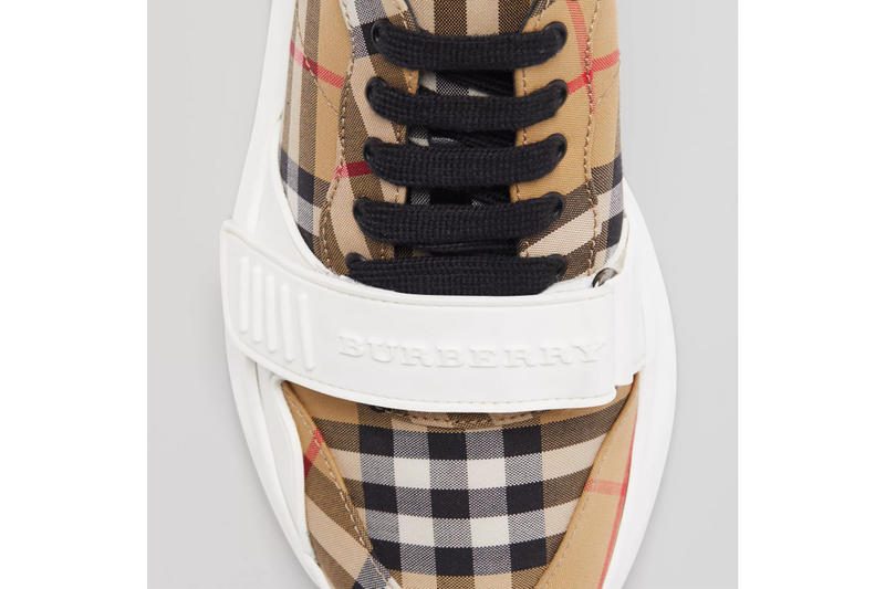 Burberry Vintage Check Cotton Sneakers white release price purchase online white footwear kicks