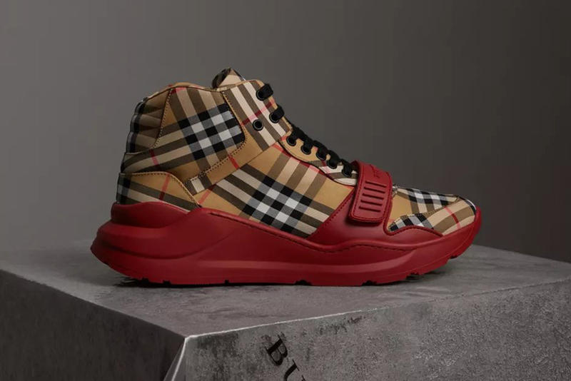 burberry vintage check high top sneaker 2018 footwear august