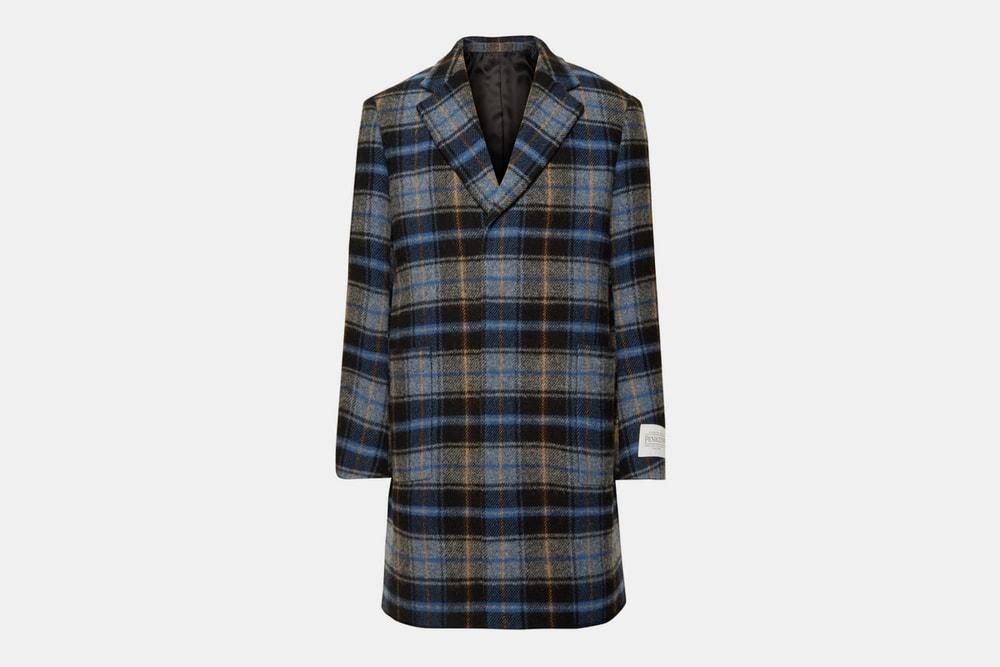CALVIN KLEIN 205W39NYC Checked Wool Overcoat Pendleton Woolen Mills release info coat fall winter