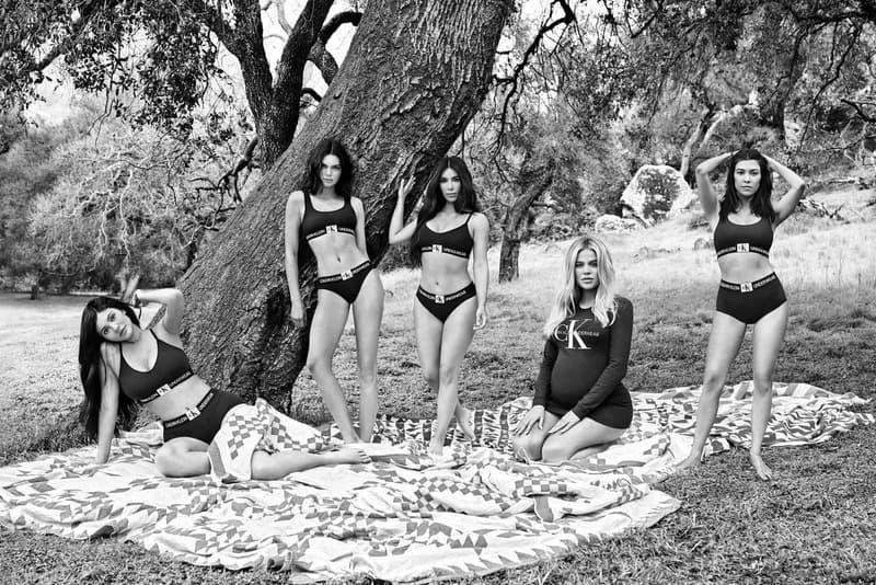 Kardashian-Jenner sisters Calvin Klein Fall 2018 Underwear & Jeans Campaign kim khloe kourtney kendall kylie