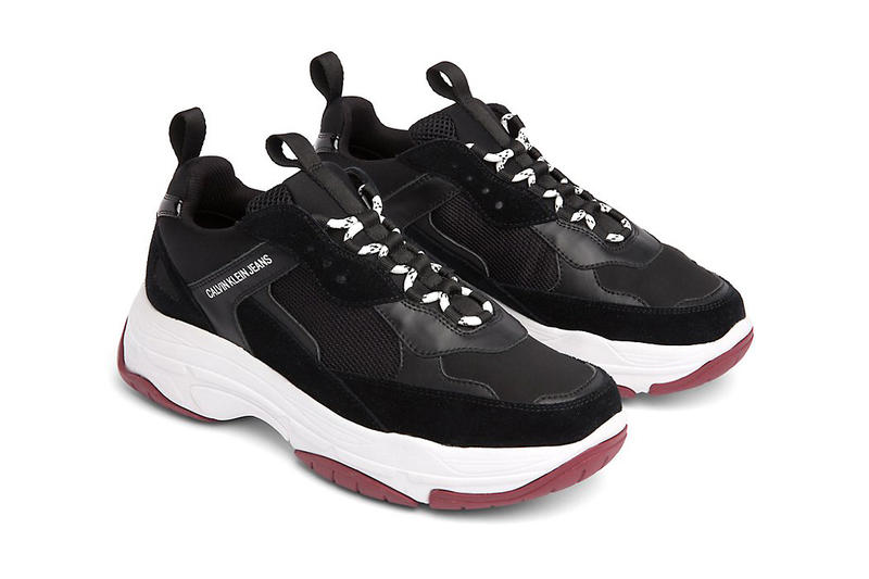 calvin klein jeans marvin chunky runner sneaker dad shoe white black tan beige suede leather 139 usd drop release available sell sale purchase buy cop raf simons