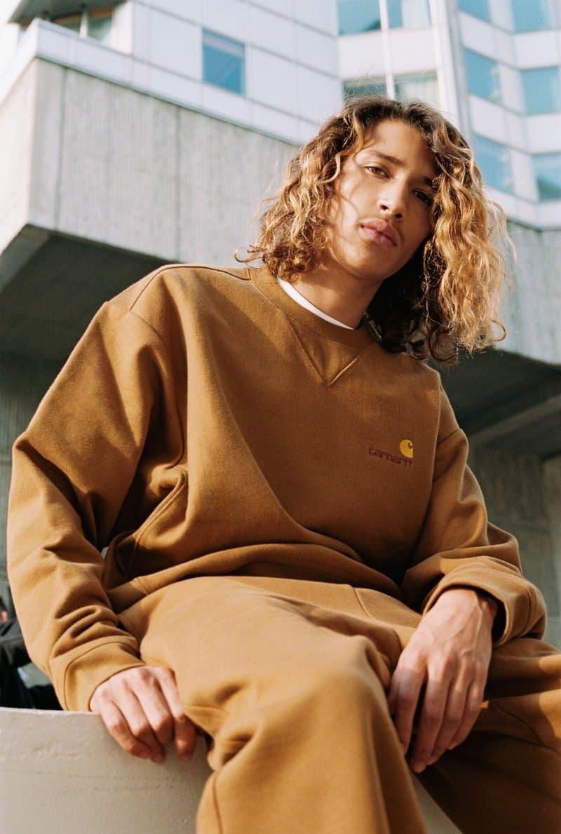 Carharrtt WIP Fall Winter 2018 Lookbook Collection outerwear puffer jacket hoodie shirt sweater knit jumper