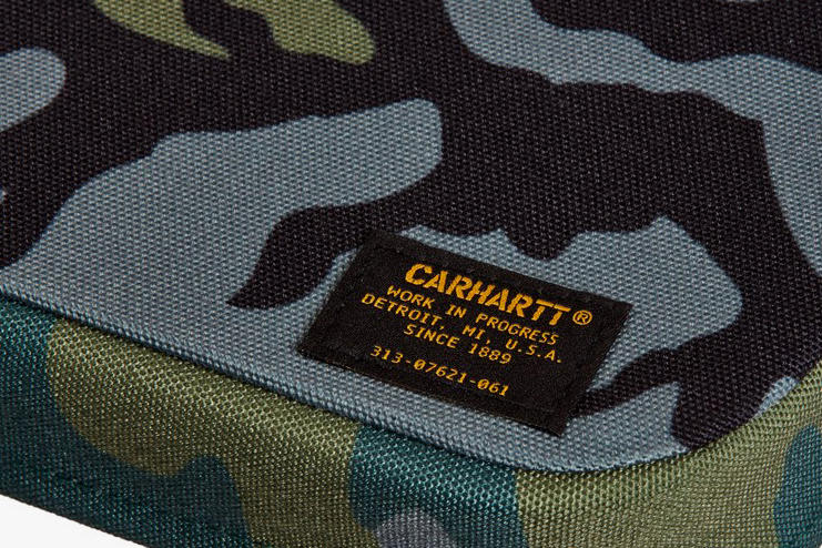 Carhartt WIP foldable picnic table set chair 185 pound camouflage green army military bench seat aluminum