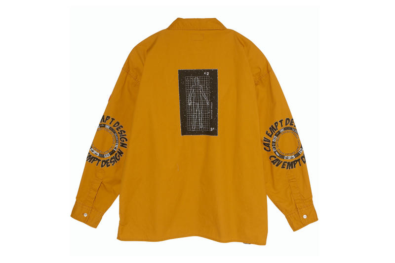 Cav empt big oversized zipper shirts orange navy graphic tony feltwell sk8thing fall winter 2018 print august 24 2018 release date drop buy sale sell purchase