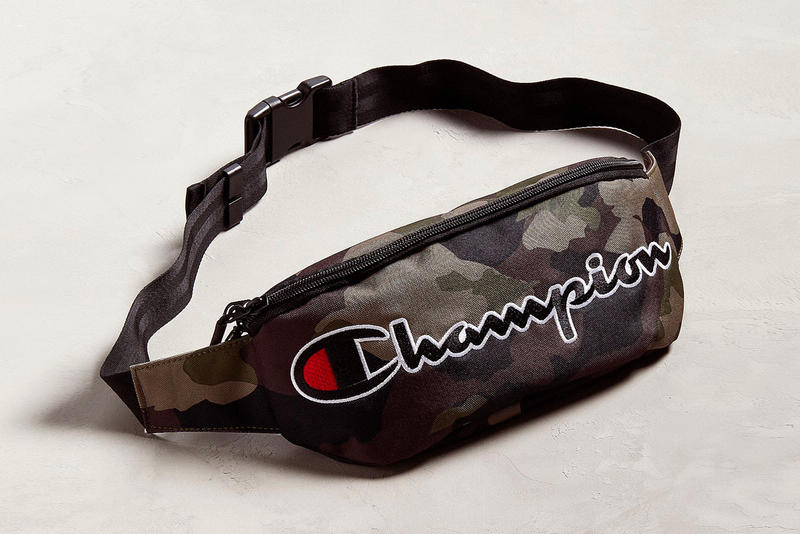 champion fanny pack side bags olive camo