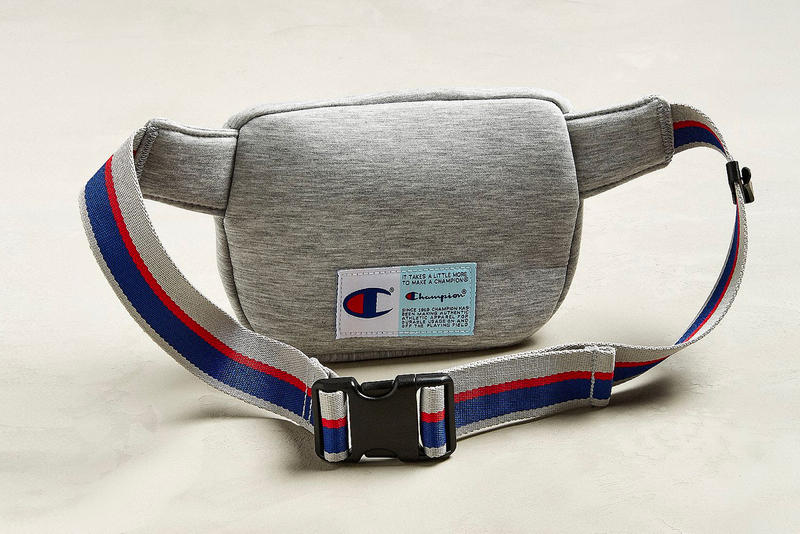 champion fanny pack side bags heather grey