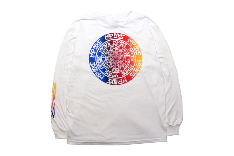 cny nyc peter sutherland maia ruth lee Domicile Tokyo new york tee shirt infinity winter ender collaboration exclusive black white dvd logo hd branding graphic rainbow print long sleeve