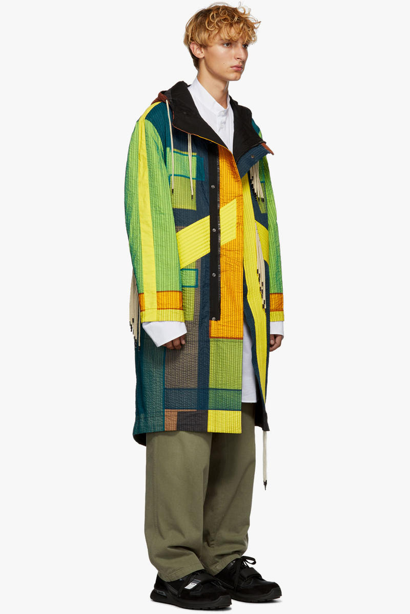 Craig Green Yellow Tent Parka Fall Winter 2018 cotton color blocked coat ssense buy purchase sale collection layer Double-Layer Organza Patchwork Parka