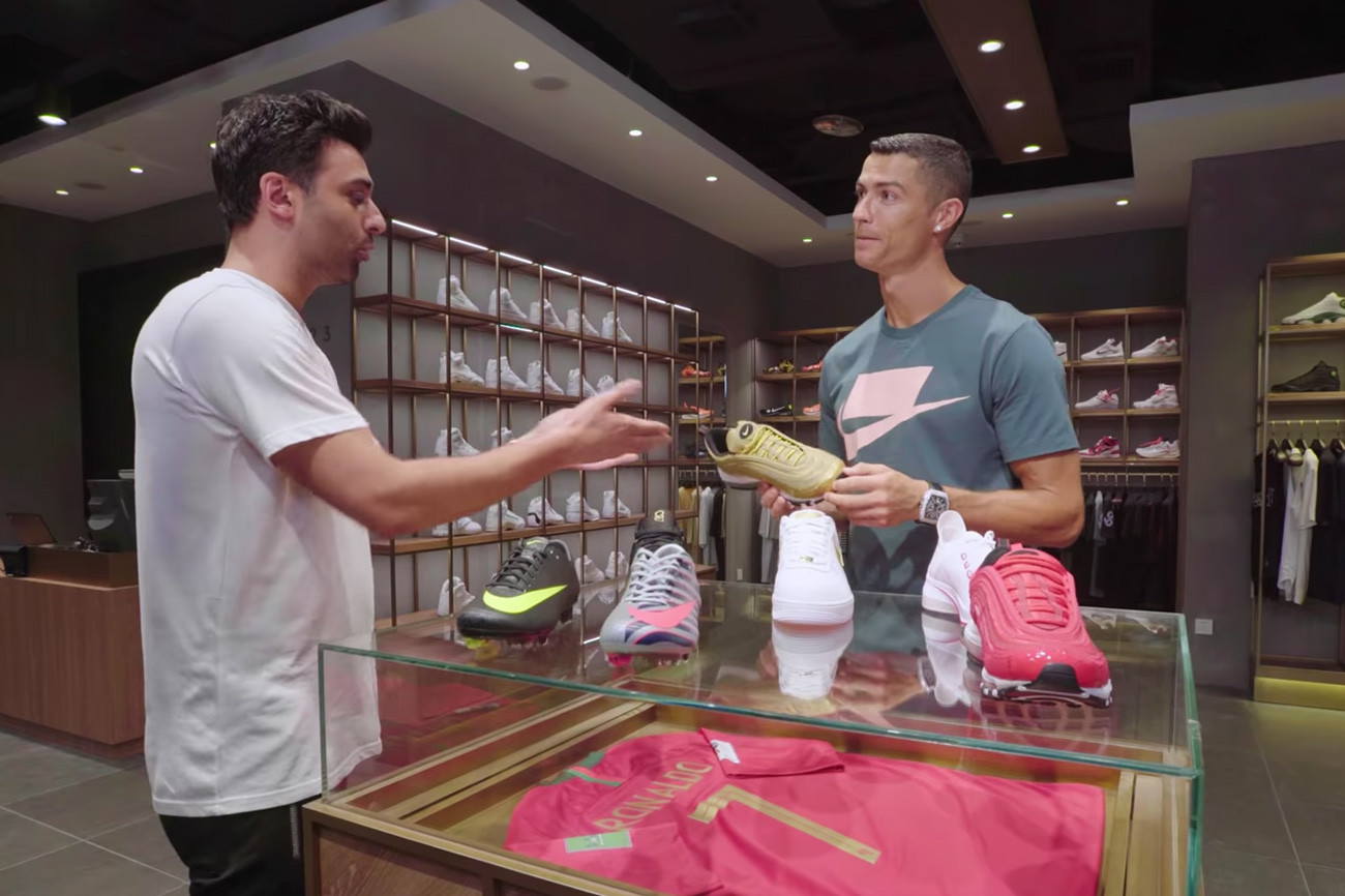 Cristiano Ronaldo Goes Sneaker Shopping