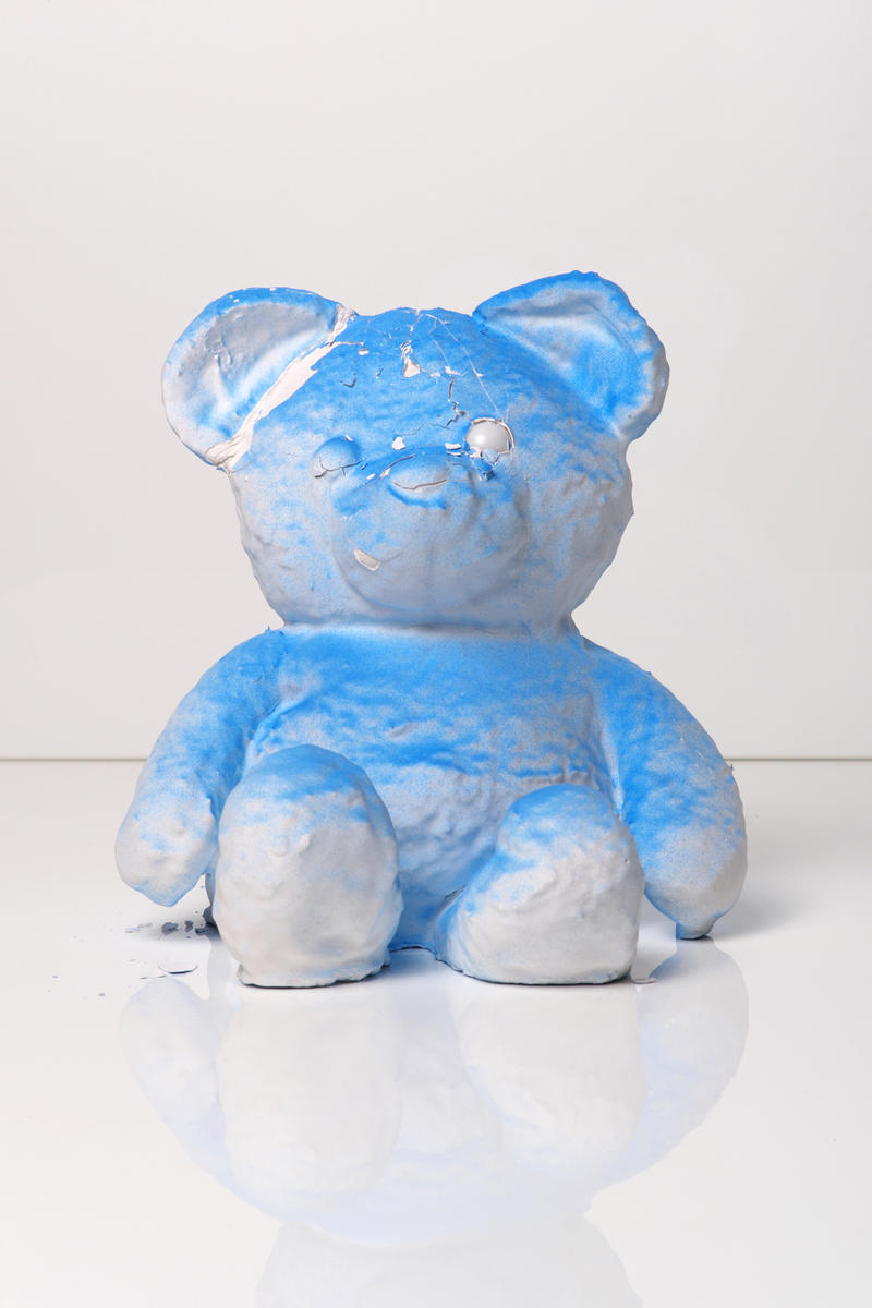 daniel arsham cracked bear edition launch artworks sculptures