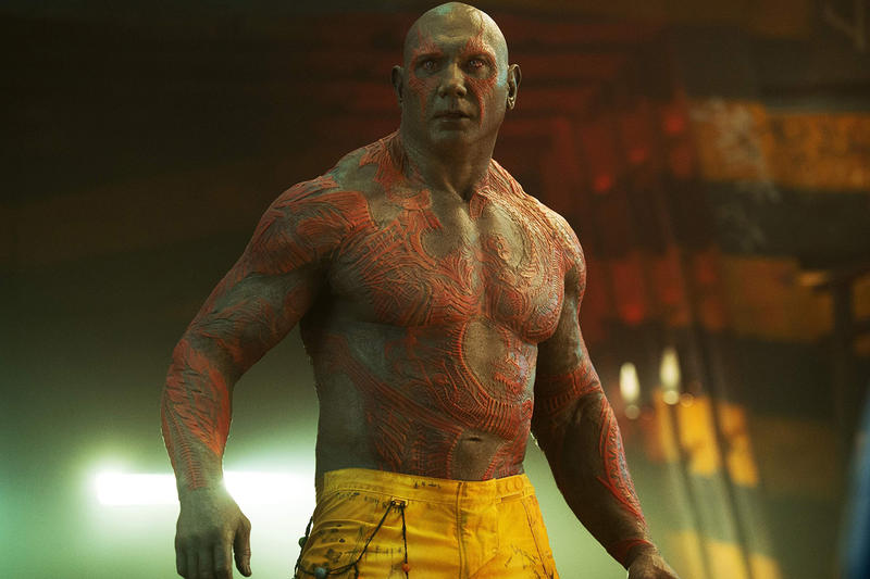 Dave Bautista Guardians of the Galaxy Script James Gunn Marvel Disney Movies Film Entertainment Chris Pratt