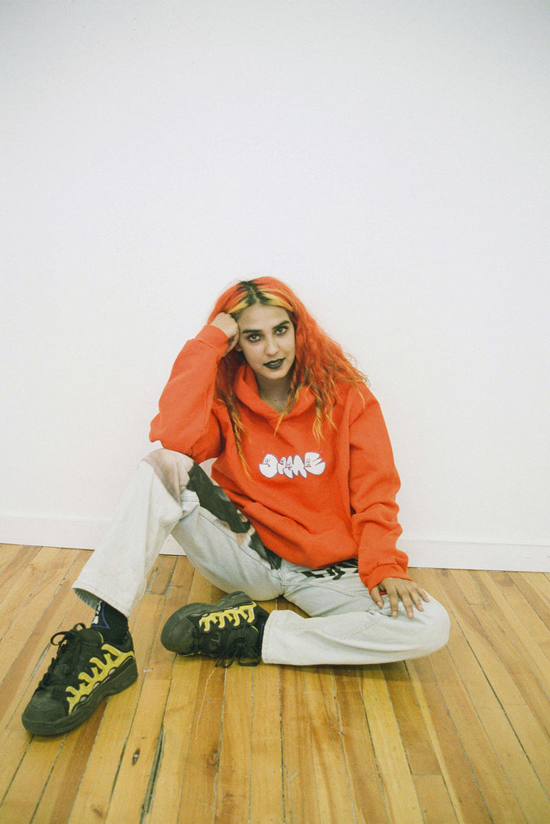 Dime Fall 2018 Lookbook Delivery Drop 1 Collection Cop Purchase Buy Fashion Clothing Montreal Skatewear Skate Hoodies Jacket T-shirt Cap Beanie Hat Scarf Cargo Trousers Soap