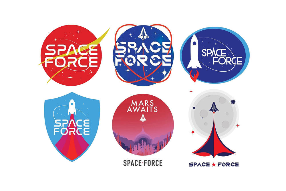 donald trump administration space force logos design