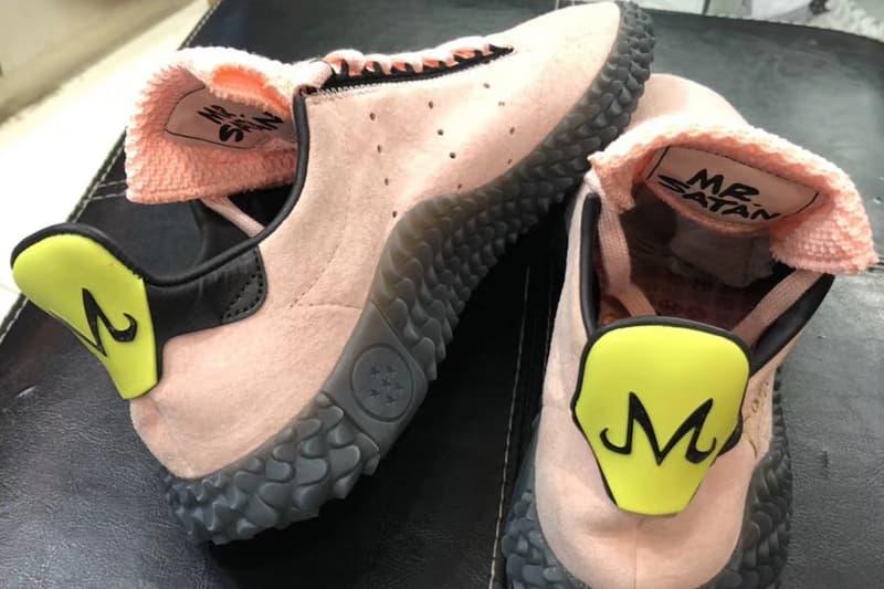 dragon ball z adidas originals kamanda majin buu collaboration release date october back heel yellow m logo mr satan tongue tag