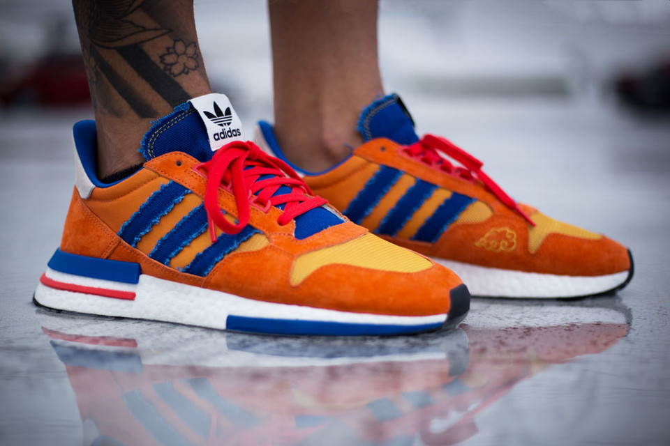 fad2e2bd6818a An On-Foot Look at the  Dragon Ball Z  x adidas ZX500 RM