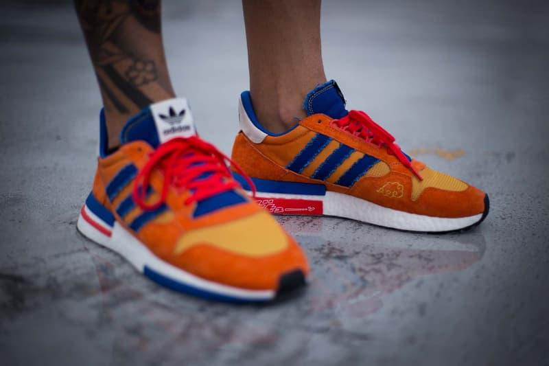 """'Dragon Ball Z' x adidas ZX500 RM """"Goku"""" On-Foot"""