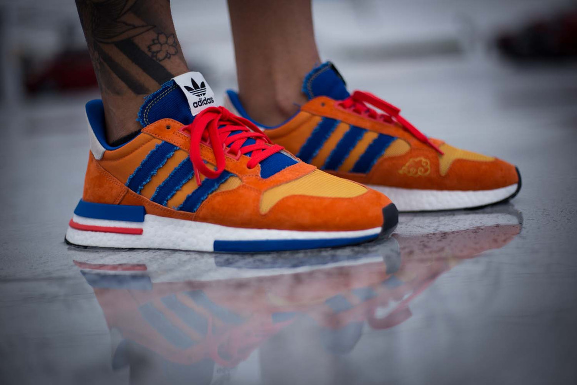 the best attitude b08d1 7da23 Dragon Ball Z' x adidas ZX500 RM