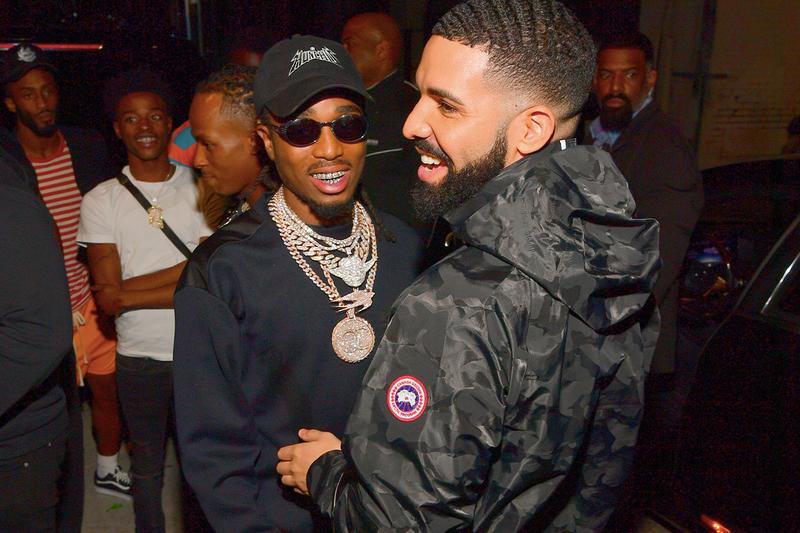 Drake Loses $10K Bet From Quavo's Half-Court Shot video basketball ovo October's very own