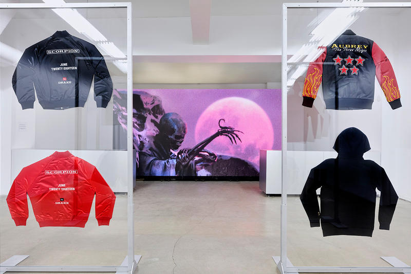 drake scorpion pop up shop new york city