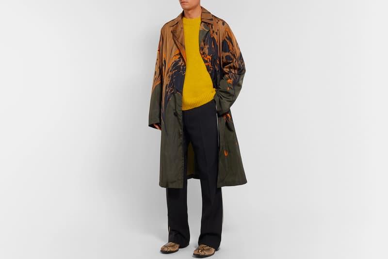 Dries Van Noten Fall Winter 2018 Ebru Shell Coat mr porter exclusive release info paris fashion week trench coat