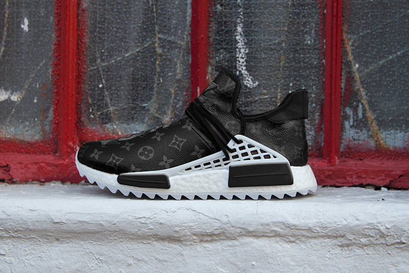 "Louis Vuitton and adidas ""Eclipse"" NMD Hu Custom Sneaker"