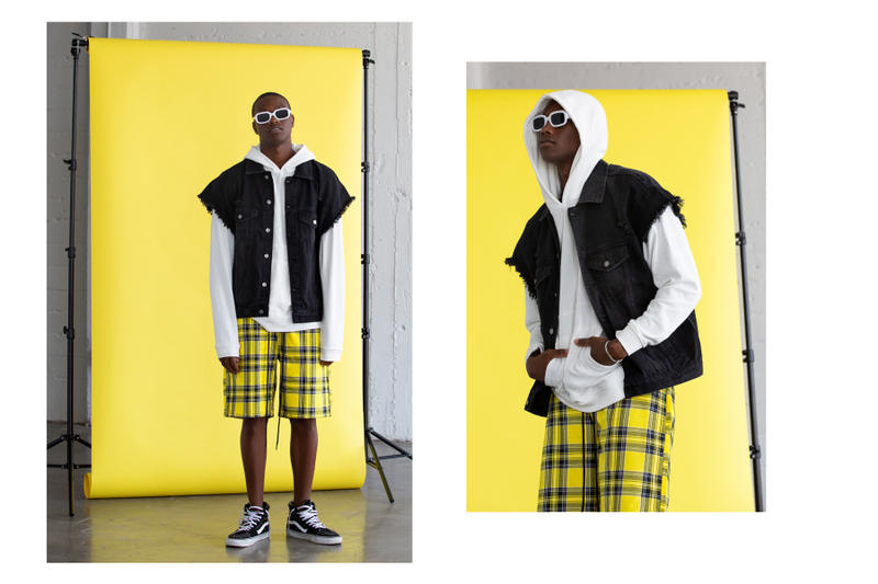 Elwood Clothing Yellow Summer Collection capsule t-shirt pants overalls camo woodland tartan punk workwear military