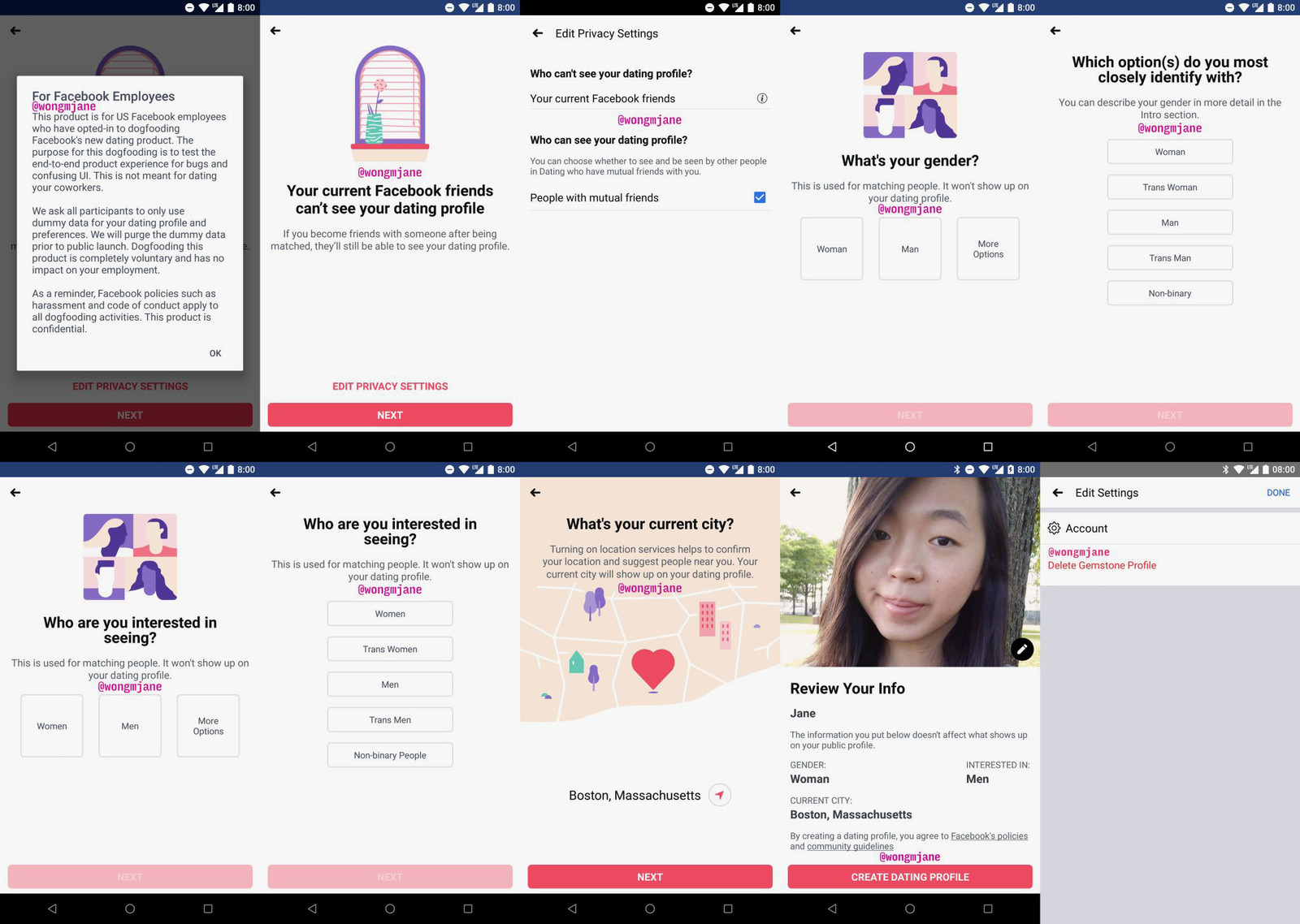 Facebook Dating Tested With 5 Gender Choices