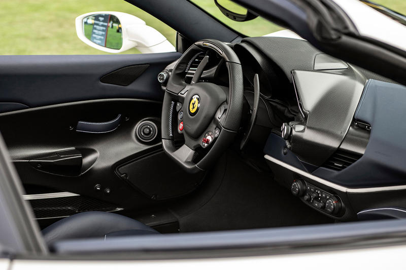 ferrari 488 pista spider pebble beach Concours d'Elegance car show drop top sports super convertible