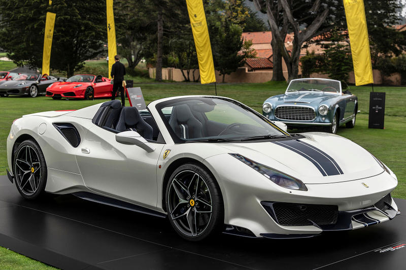 Ferrari Pista Spider Debuts At Pebble Beach HYPEBEAST - Pebble beach car show 2018