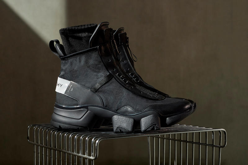 Givenchy Fall/Winter 2018 JAW Sneaker clare waight keller release date first design drop info closer look official august 17 buy purchase black sport high top zipper