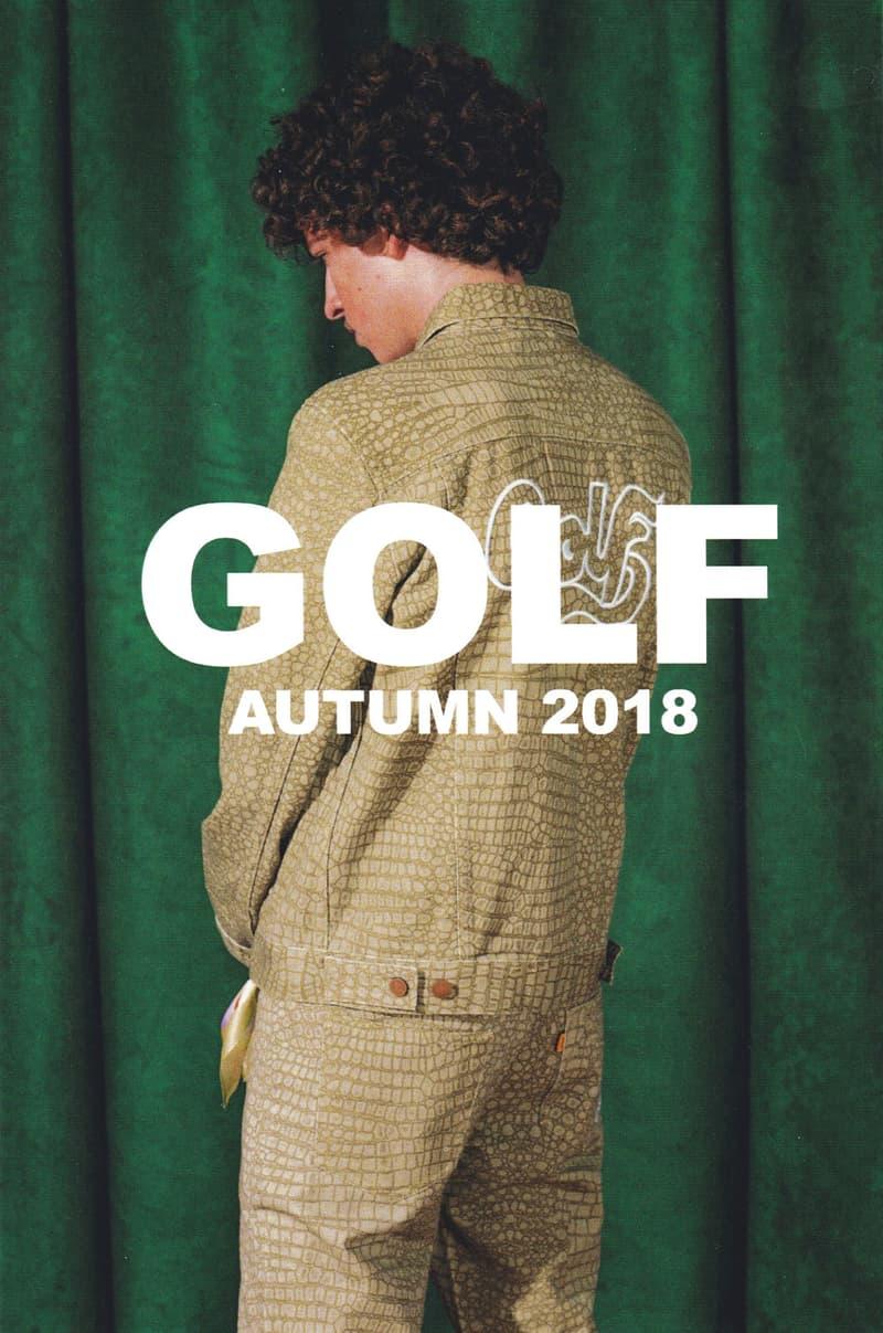 golf wang fall 2018 lookbook collection snakeskin trucker jacket pants print drawstring beige