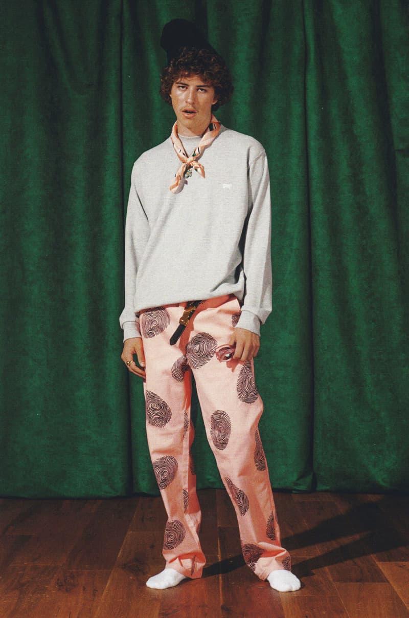 782e1dfcaf51 golf wang fall 2018 lookbook collection pattern pants grey sweater jumper  pullover fingerprint bandana neckerchief tie