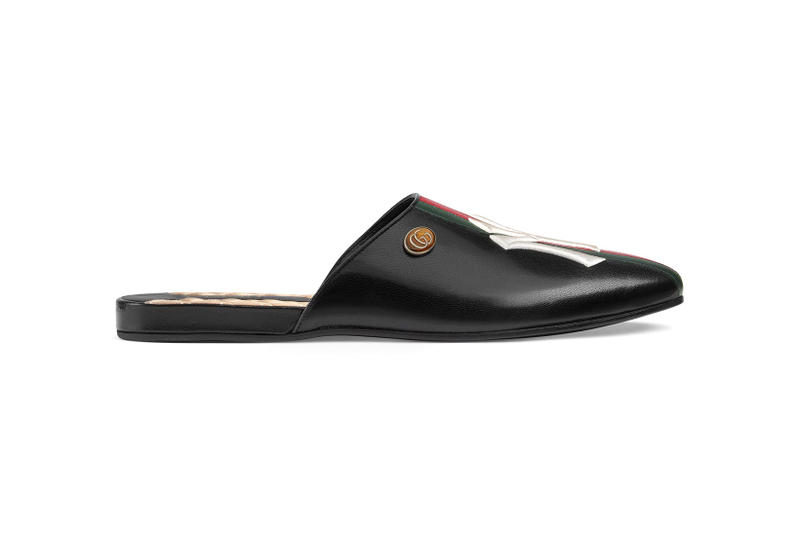 gucci new york yankees leather slippers footwear 2018 august