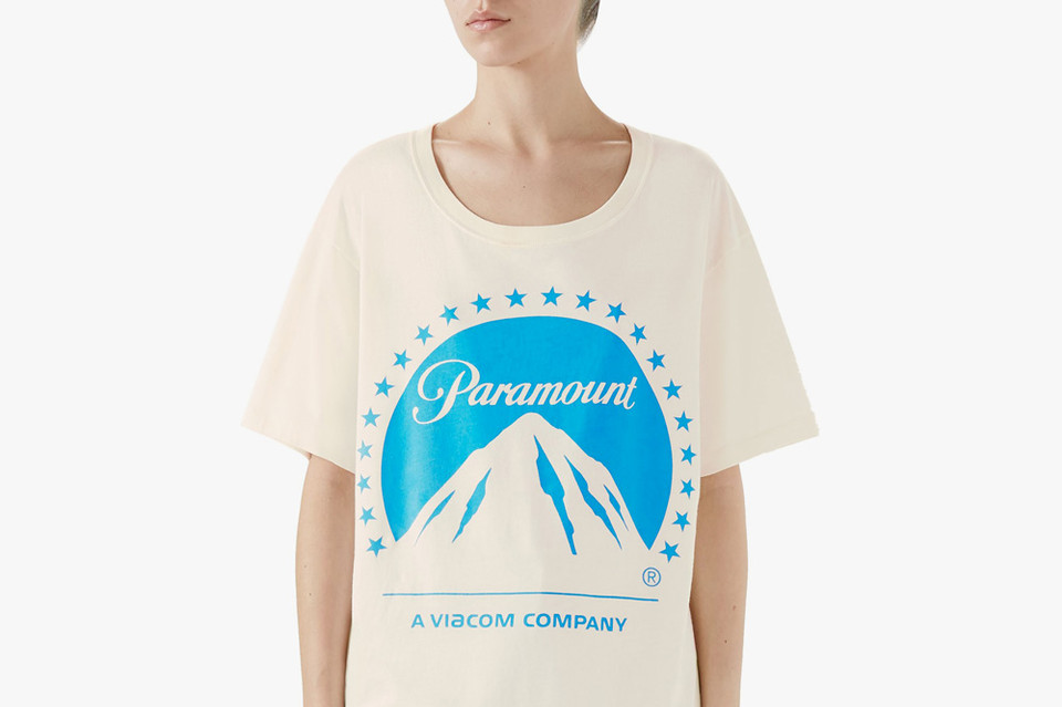 a041ab858fa Gucci Releases Paramount Film Studio Logo T-Shirt for  590 USD