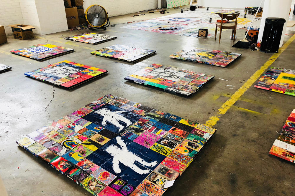 harmony korine blockbuster exhibition gagosian new york city shows artworks sculptures paintings