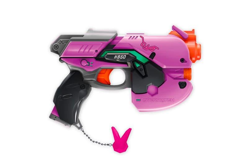 Blizzard Overwatch Hasbro NERF D.Va Light Gun Pistol Purple Nerf Rivals Reapers Shotgun