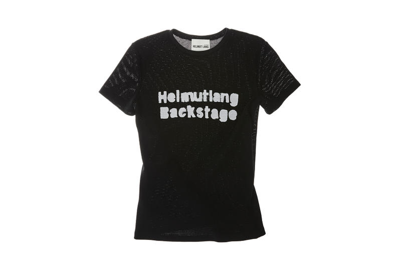 helmut lang re edition byronesque collection backstage print tee shirt black white 1994