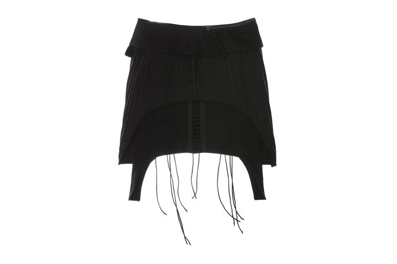 helmut lang re edition byronesque collection aviator skirt 2003 black