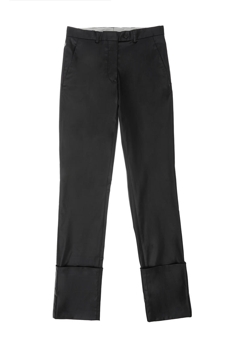 helmut lang re edition byronesque collection turn up trousers 1995 black